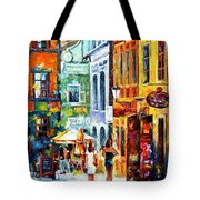 Morning Gossip - Palette Knife Oil Painting On Canvas By Leonid Afremov Tote Bag