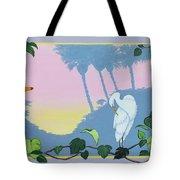 Morning Heron Tote Bag
