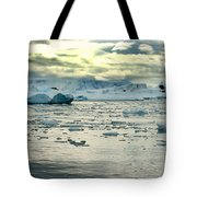 Morning Ice Flow Tote Bag