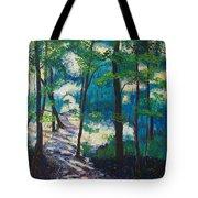 Morning Sunshine In Park Forest Tote Bag