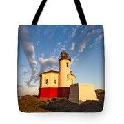 Morning Light At Coquille River Lighthouse Tote Bag