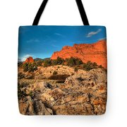 Morning Light At Garden Of The Gods Tote Bag