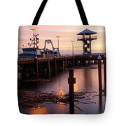 Morning Light At Port Angeles Tote Bag