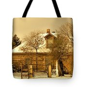 Morning Light Log House Tote Bag