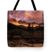 Morning Light Maligne Pass Tote Bag