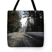 Morning Light On The Road Tote Bag