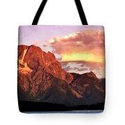 Morning Light On The Tetons Tote Bag