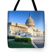 Powerful - Washington Dc Morning Light On Us Capitol Tote Bag