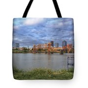 Morning Light Upon Downtown Little Rock - Arkansas - Skyline Tote Bag