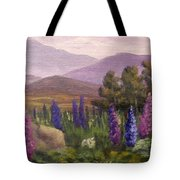 Morning Lupines Tote Bag