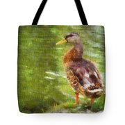 Morning Mallard Tote Bag