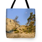 Morning Mammoth Moon Tote Bag