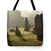 Morning Mist At The Cemetery Tote Bag