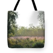 Morning Mist In The Pasture Tote Bag