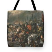 Morning Of The Battle Of Agincourt, 25th October 1415, 1884 Oil On Canvas Tote Bag