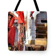 Morning Offerings - Narmada River Source - Amarkantak India Tote Bag