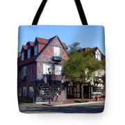 Morning On 2nd Street Solvang California Tote Bag