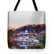 Morning On Boathouse Row Tote Bag