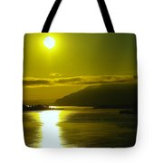 Morning On The Columbia River Tote Bag