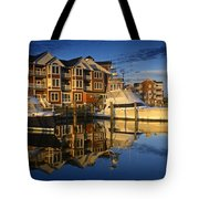 Morning On The Docks Tote Bag