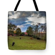 Morning On The Farm Four Tote Bag