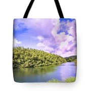 Morning On The Hanalei River Tote Bag