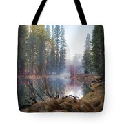Morning On The Merced Tote Bag