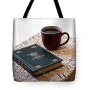 Morning Read Series 3 Tote Bag