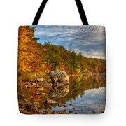 Morning Reflection Of Fall Colors Tote Bag