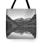 Morning Reflections Bw Tote Bag