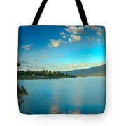 Morning Reflections On Lake Cascade Tote Bag