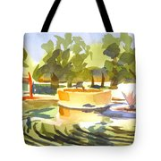 Morning Ripples At Ste. Marie Du Lac Pond Tote Bag