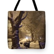 Morning Snow Tote Bag