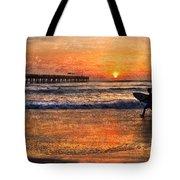 Morning Surf Tote Bag by Debra and Dave Vanderlaan