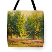 Morning Through The Trees Tote Bag