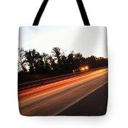 Morning Traffic On Highway Tote Bag