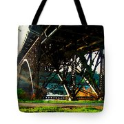 Morning Under The Bridge Tote Bag