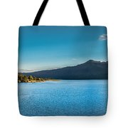 Morning View Of Cascade Reservoir  Tote Bag