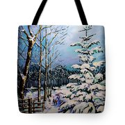 Morning Walk Together Tote Bag by Vickie Warner