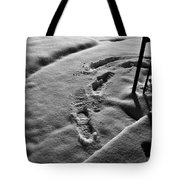 Mornings First Footprints  Tote Bag