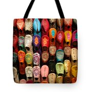 Moroccan Babouches Old Medina Marrakesh Morocco Tote Bag