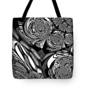 Moroccan Lights - Black And White Tote Bag