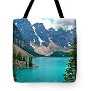 Morraine Lake In Banff Np-alberta Tote Bag