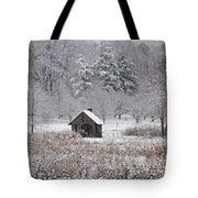 Morris Arboretum Mill In Winter Tote Bag