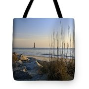 Morris Island Lighthouse - D006754 Tote Bag