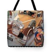 Morris Major 6 - Vintage Car Poster Tote Bag