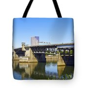 Morrison Bridge Portland Oregon Tote Bag