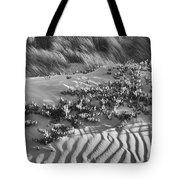 Morro Beach Textures Bw Tote Bag