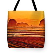Morro Rock Painting Tote Bag