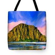 Morro Rock Sunset Tote Bag